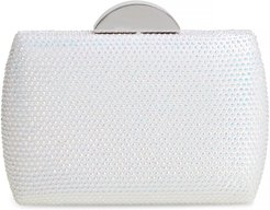 Pacey Crystal Minaudiere - White