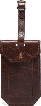 Leather Luggage Tag - Brown