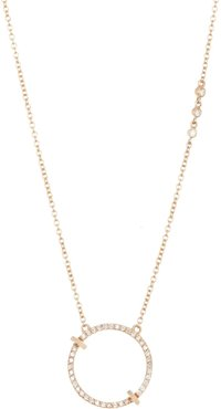 Paige Novick 14K Yellow Gold Essentials Pave Open Circle Pendant Necklace at Nordstrom Rack