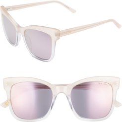 51mm Polarized Cat Eye Sunglasses - Blush/ Clear