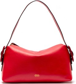 Ruby Water Resistant Leather Shoulder Bag - Red