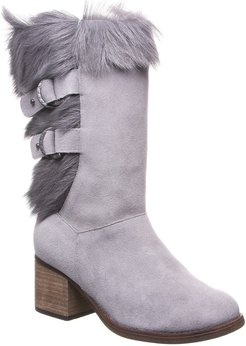 BEARPAW Madeline Genuine Goat Fur & Suede Tall Boot at Nordstrom Rack