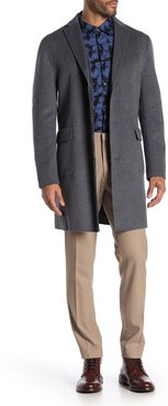 DKNY Grey Solid Button Coat at Nordstrom Rack
