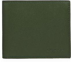 Colorblock Coin Leather Wallet - Green