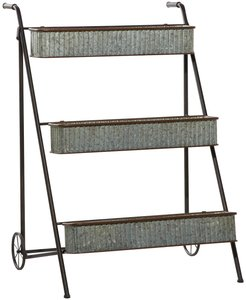 Willow Row Large Multi-Colored Metal Rack Outdoor 3-Tier Planter at Nordstrom Rack