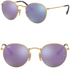 Ray-Ban Phantos Icons 47mm Round Sunglasses at Nordstrom Rack