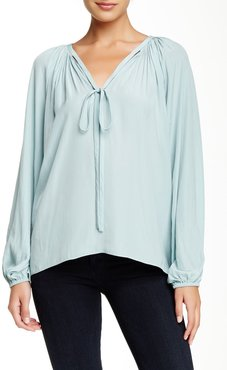 Ramy Brook Paris Balloon Sleeve Keyhole Blouse at Nordstrom Rack