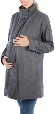 A-Line Convertible 3-In-1 Maternity Swing Coat