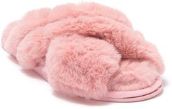 SG Footwear Aside with Me Plush Faux Fur Slipper at Nordstrom Rack
