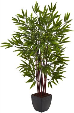 NEARLY NATURAL Green 4    Bamboo Silk Tree with Planter at Nordstrom Rack