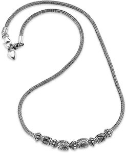 Samuel B Jewelry Sterling Silver Tulang Naga Charm Bead Necklace at Nordstrom Rack