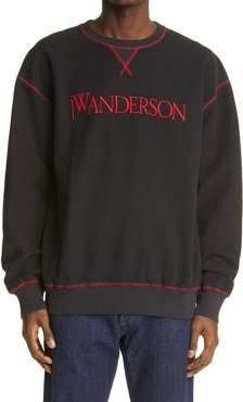 Logo Embroidered Inside Out Sweatshirt