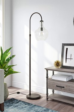 Addison and Lane Verona Arc Blackened Bronze Floor Lamp with Seeded Glass Shade at Nordstrom Rack