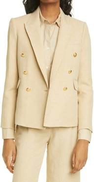 Henry Double Breasted Linen & Silk Jacket