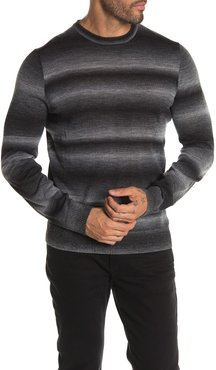 Thomas Dean Crew Neck Ombre Wool Blend Sweater at Nordstrom Rack