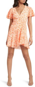 Joanna Ruched Floral Minidress