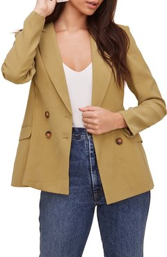 Pleat Detail Fitted Blazer