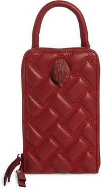 Tall Kensington Leather Crossbody Bag - Red