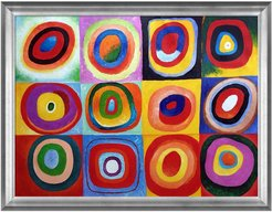 Overstock Art Farbstudie Quadrate Framed Oil Reproduction of an Original Painting by Wassily Kandinsky at Nordstrom Rack