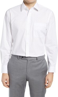 Big & Tall Nordstrom Traditional Fit Non-Iron Dobby Dot Dress Shirt