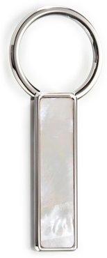 M-Link Mother Of Pearl Key Ring - White