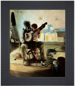 Overstock Art The Banjo Lesson - Framed Oil Reproduction of an Original Painting by Henry Ossawa Tanner at Nordstrom Rack