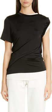 MONSE Asymmetrical Double Layer Jersey Tee at Nordstrom Rack