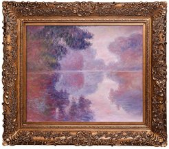 Overstock Art Misty Morning on the Seine - Framed Oil Reproduction of an Original Painting by Claude Monet at Nordstrom Rack