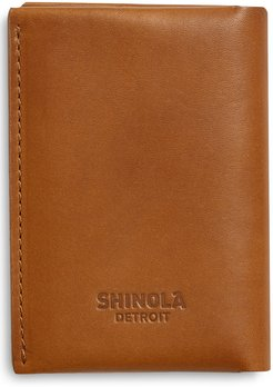 Utility Folded Leather Card Holder - Brown