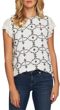 Embroidered Woven Top