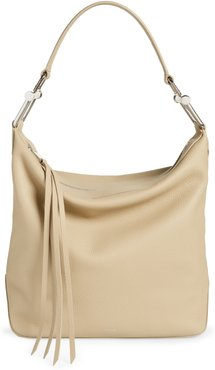 Small Kirsten Leather Hobo - Brown