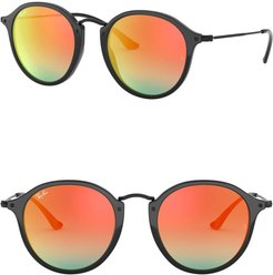Ray-Ban Phantos Icons 49mm Round Sunglasses at Nordstrom Rack