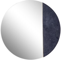 """Willow Row Round Wall Mirror With Black Stone Accent - 25"""" x 25"""" at Nordstrom Rack"""