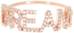 EF Collection 14K Rose Gold Pave Diamond 'Dream' Ring - Size 7 - 0.21 ctw at Nordstrom Rack