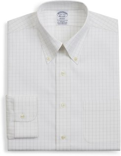 Big & Tall Brooks Brothers Regent Regular Fit Windowpane Dress Shirt