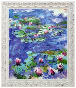 Overstock Art Water Lilies by Claude Monet Framed Hand Painted Oil Reproduction at Nordstrom Rack