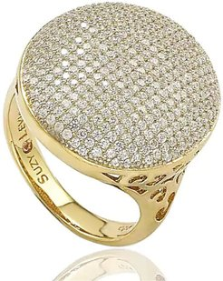 Suzy Levian Round Pave CZ Statement Ring at Nordstrom Rack
