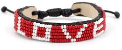 Love Beaded Woven Bracelet