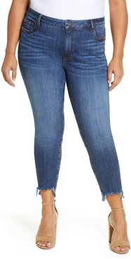Plus Size Women's Kut From The Kloth Reese Frayed Step Hem Ankle Straight Leg Jeans