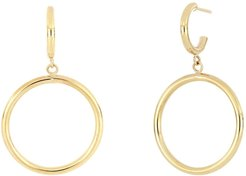 Bony Levy 14K Yellow Gold Polished Circle Dangle Earrings at Nordstrom Rack
