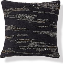Onyx Beaded Accent Pillow