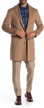 DKNY Camel Solid Button Coat at Nordstrom Rack