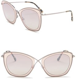 Tom Ford India 53mm Squared Cat Eye Sunglasses at Nordstrom Rack