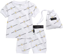Infant Boy's Tiny Tribe Eggshausted Fitted Two-Piece Short Pajamas