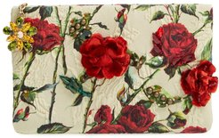 Floral Clutch - Red