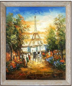 "Overstock Art Gardens Near The Eiffel with Silver Luna Frame, 24"" x 28"" at Nordstrom Rack"