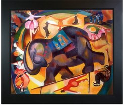 Overstock Art The Elephant by Alice Bailly Framed Hand Painted Oil Reproduction at Nordstrom Rack