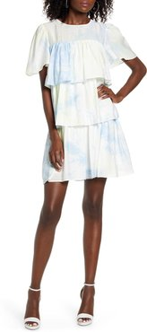 Tiered Ruffle Shift Dress