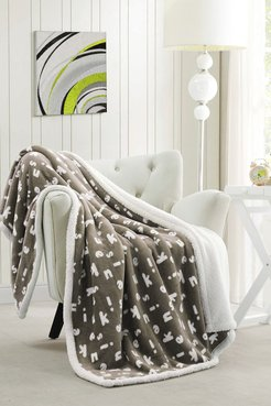 Duck River Textile Mika Kensie Faux Fur Throw - Taupe at Nordstrom Rack
