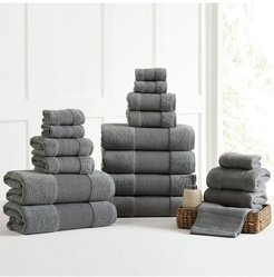 Modern Threads Air Cloud 18-Piece Towel Set - Charcoal Gray at Nordstrom Rack